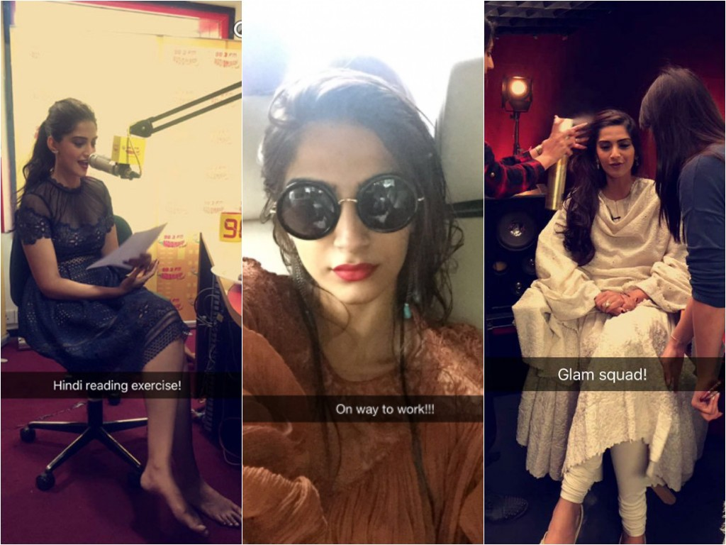 Image result for sonam kapoor snapchat